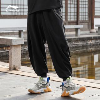 LI-NING 李宁 李宁X成龙功夫系列卫裤男士2021春夏新款宽松裤子收口运动长裤