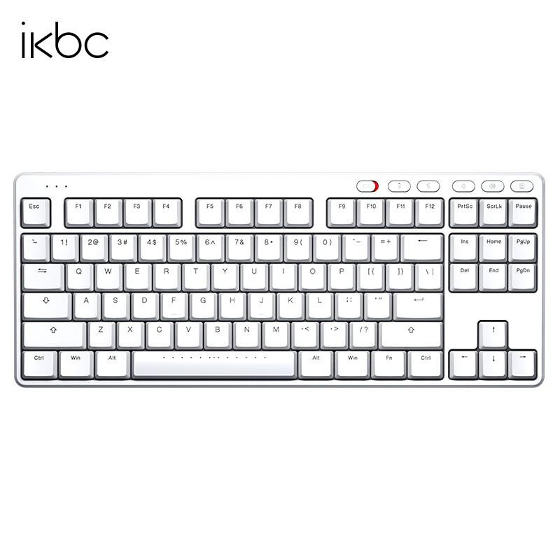 iKBC S200 2.4G无线机械键盘 白色(cherry青轴、87键)