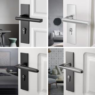 Cobbe 卡贝 卡贝门锁室内卧室静音房门锁黑色卫生间实木门把手家用通用型锁具