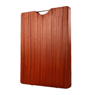 hommy 佳佰 抗菌乌檀木菜板 抗菌砧板 实木切菜板方形板案板水果板刀板 W029(38*28*2.2cm)