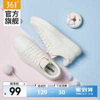 361° 361女鞋运动鞋2021新款鞋子情侣白色板鞋薄款透气小白鞋女夏季潮