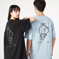 A21 F411131009 哆啦A梦联名款 男士纯棉短袖T恤