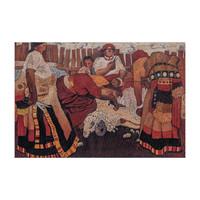 HOWstore 现货周春芽版画 剪羊毛 全球限量 110 × 80cm 木框装裱 2006年 99版