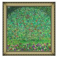 雅昌 克里姆特风景油画《苹果树》背景墙装饰画挂画 宫廷金 44×44cm