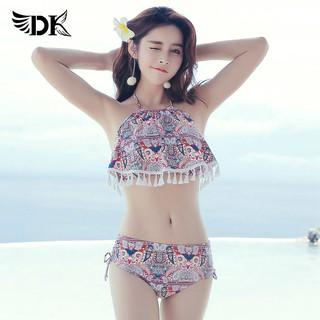 DK 2020新款爆款游泳衣女分体比基尼温泉显瘦性感三件套韩国ins风