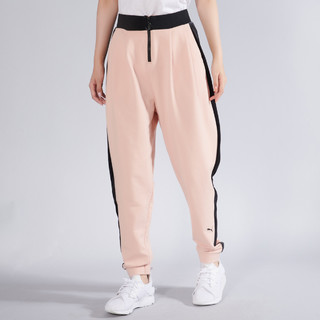 PUMA 彪马 黑标宽松柔软侧条纹 女式针织长裤运动裤女