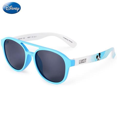 Disney 迪士尼 迪士尼(Disney)儿童太阳镜男女童防炫目墨镜小孩防紫外线眼镜 冰蓝边框 均码