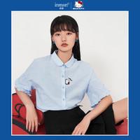 INMAN 茵曼 Hello Kitty联名系列 女士短袖衬衣