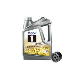 Mobil 美孚 途虎养车 小保养套餐 美孚 1号 全合成机油 5W-30 SN级 4L+机滤+工时