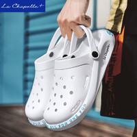 La Chapelle+夏季洞洞鞋男士拖鞋防滑沙滩鞋潮流软底凉拖鞋室外穿