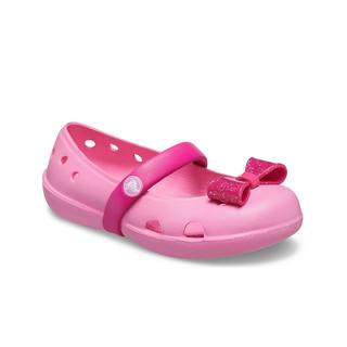 Crocs 卡骆驰 儿童凉鞋夏季女童琦莉爱心装饰儿童平底鞋