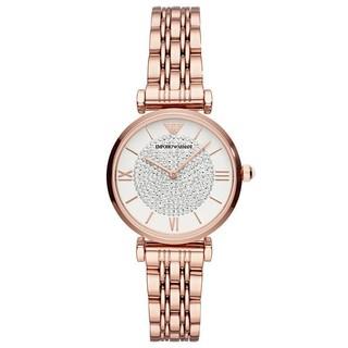EMPORIO ARMANI 阿玛尼 女士满天星时尚百搭镶钻石英腕表