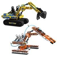 布鲁可 科技互动系列 61120 液压挖掘机  61122 液压机械手