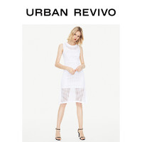 URBAN REVIVO UR春夏女装魅力镂空无袖针织连衣裙WH31S9BN2005