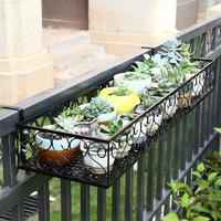 ANERYA 安尔雅 安尔雅  欧式阳台花架花盆 铁艺栏杆多层悬挂式花盆架壁挂绿萝多肉花架