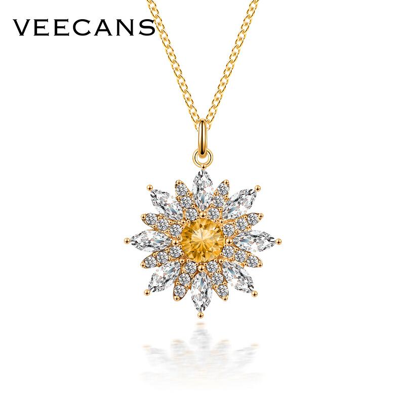 veecans N0845-BG7Y1 小雏菊项链