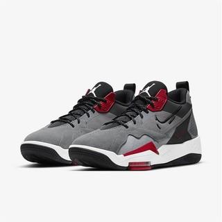 AIR JORDAN Jordan Zoom 92 男子篮球鞋 CK9183-006 烟灰/红色/白色/黑色