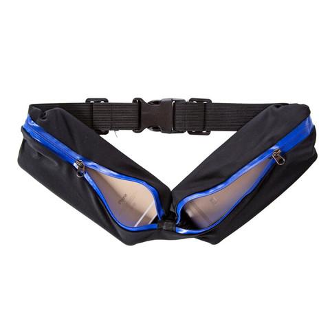 FLYVII 弗露特 户外跑步隐形腰包健身运动腰带多功能男女手机跑步包运动包大号双包 蓝色