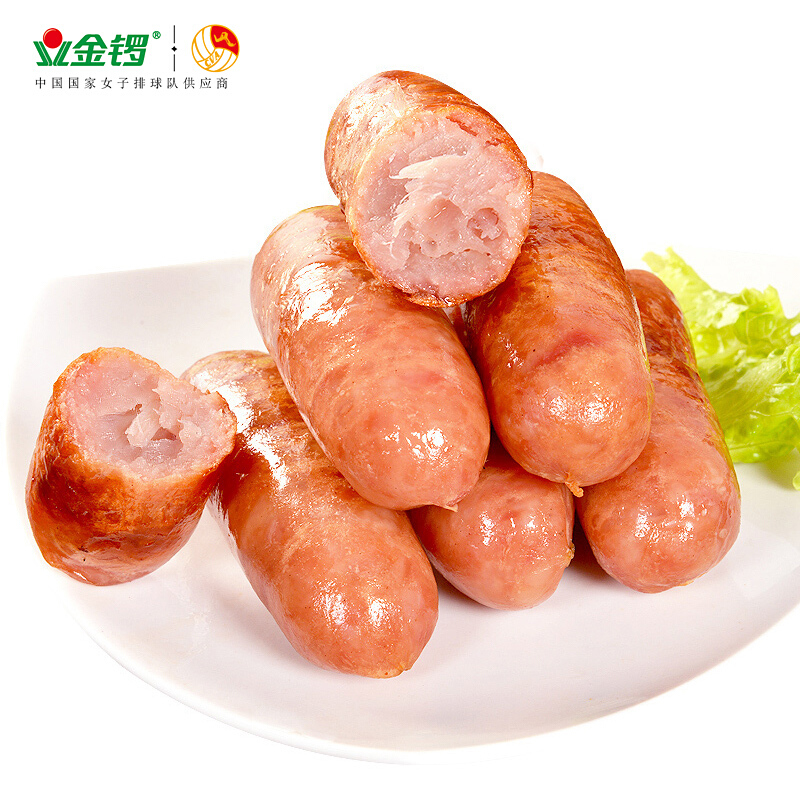PLUS会员 : JL 金锣 原味猪肉肠  1.2kg