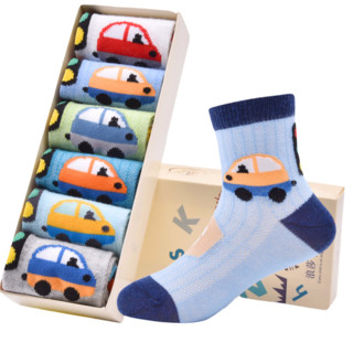 Langsha 浪莎  春夏款儿童袜子 6双装