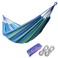 winpolar Winpolar川跃 户外帆布便携式单人吊床 便携式A款蓝色