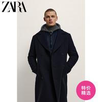 ZARA   男装 羊毛长款双排扣毛呢大衣外套 03057333401