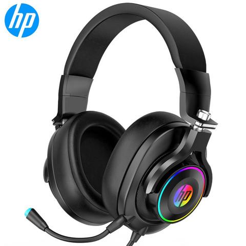 HP 惠普 惠普(HP)H500 耳机头戴式 电脑游戏电竞台式机笔记本降噪有线炫彩发光2.1声道带麦克风话筒耳机耳麦