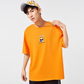A21 夏季2021新款男装宽松圆领情侣短袖T恤男士落肩潮女上衣新疆棉