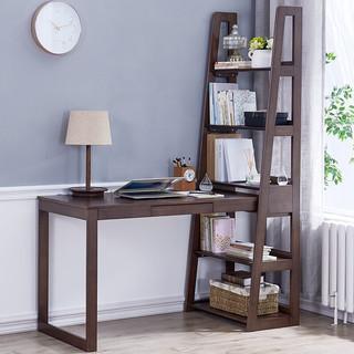 18日0点 : JIAYI 家逸 现代简约实木书桌书架组合
