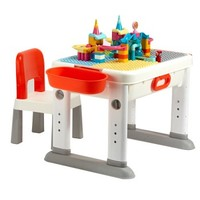 布鲁可 滑轨乐园积木桌套装 积木桌+102颗滑轨包