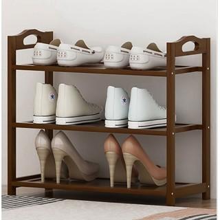 ZHUYIJIA 竹艺佳 鞋架简易子小窄门口放家用卧室内好看经济型多层收纳神器实木鞋柜