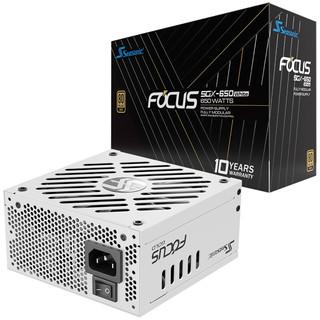 SEASONIC 海韵 Seasonic FOCUS SGX White白色限定版650W金牌电源/白色全模组线/十年质保/全日系电容/静音风扇启停功能