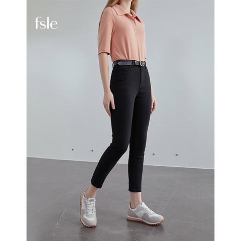 小脚高腰牛仔裤女2021年新款春秋紧身铅笔裤子女显瘦百搭 黑色 XS
