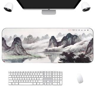 Langtu 狼途 游戏超大鼠标垫锁边中国风加厚可爱兰亭序励志笔记本电脑办公桌垫