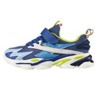 BoBDoG 巴布豆 萌趣潮童系列 BLN21521 儿童休闲运动鞋 钛蓝荧光绿 34