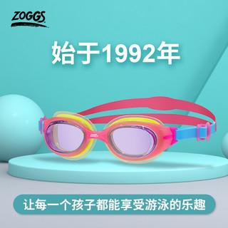 ZOGGS 英国 儿童泳镜(0-6岁) 游泳泳镜 可调节镜带防雾防水 310534-粉黄蓝