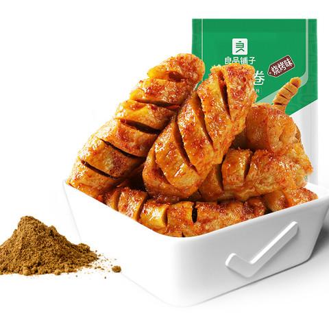 liangpinpuzi 良品铺子 面筋卷烧烤味烤面筋网红辣条豆干小零食儿时怀旧小吃120g