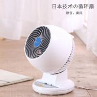 IRIS 爱丽思 日本爱丽思家用空气循环扇静低分贝音涡轮对流遥控台式小电风扇丝