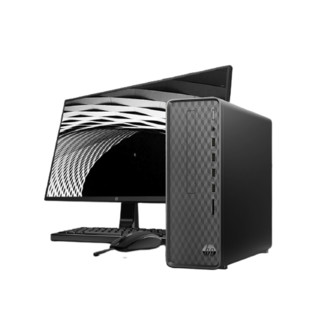 HP 惠普 小欧S01商务办公台式电脑整机(十代i5-10400 8G 1TB UMA Win10 注册五年上门)23.8英寸