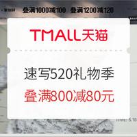促销活动:天猫 速写官方旗舰店 520礼物季
