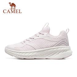 CAMEL 骆驼 运动鞋女2021春夏时尚休闲跑步鞋舒适轻便透气潮流跑鞋子 A113046117,藕紫,女款 37