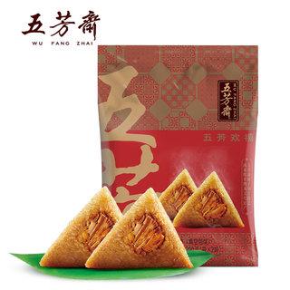 WU FANG ZHAI 五芳斋 猪肉粽140g*2个+彩豆粽100g*2个