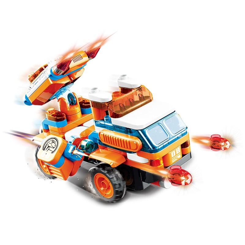 布鲁可 大颗粒百变积木车 61254 迅龙导弹车