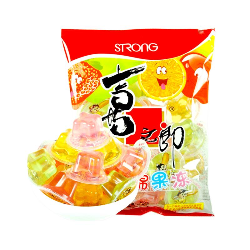 XIZHILANG 喜之郎 什锦果汁果冻360g袋休闲零食网红布丁小吃婚庆