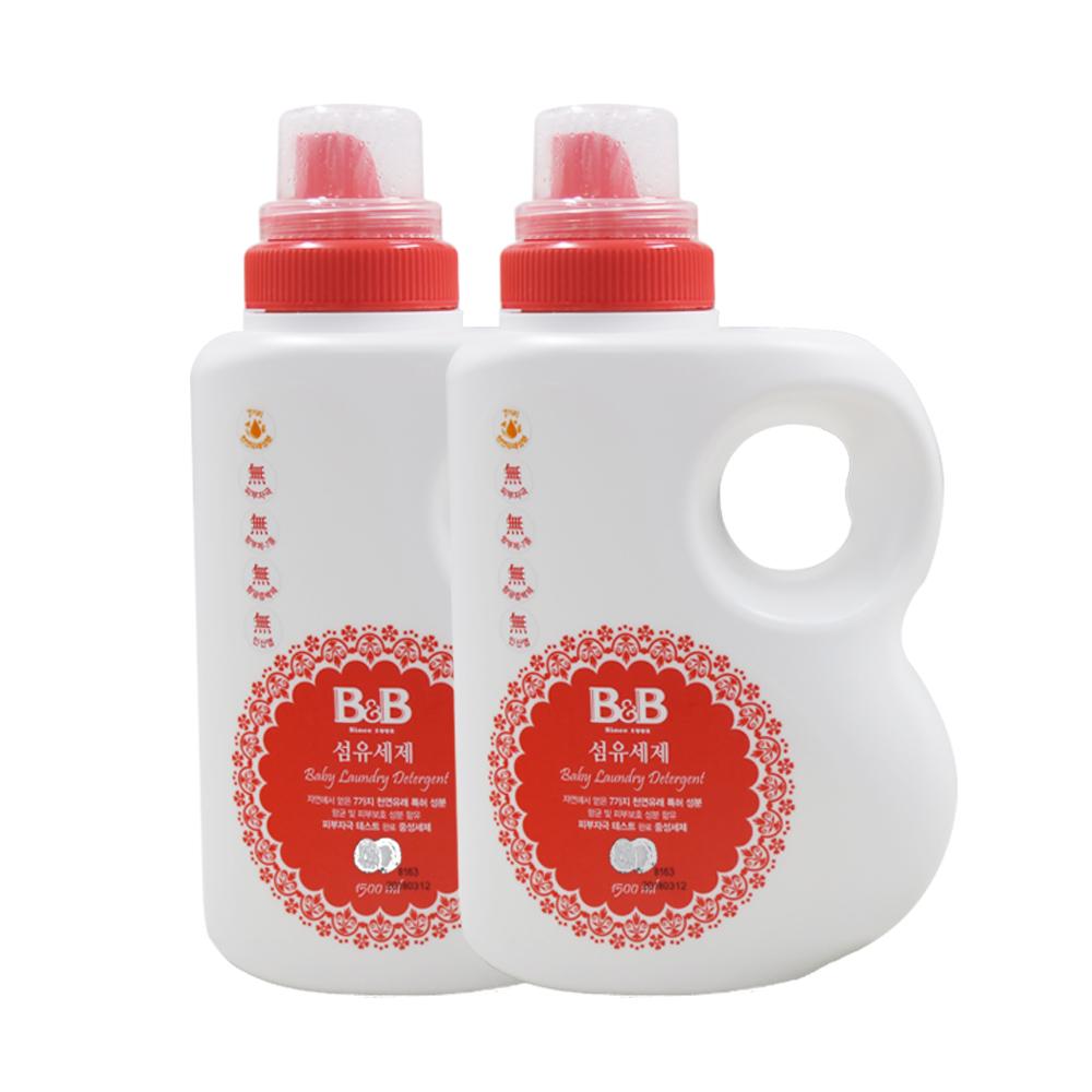 B&B 保宁 韩国B&B保宁进口保宁洗衣液天然皂液宝宝专用1500ML*2瓶装婴儿
