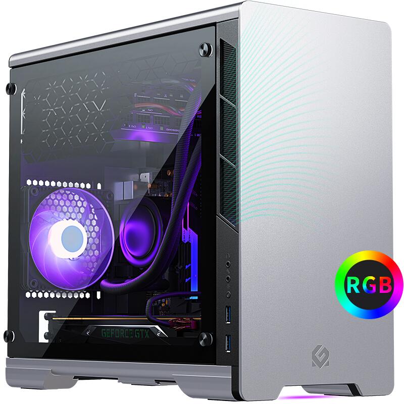 PHANTEKS 追风者 MetallicGear 210 钢化玻璃侧透 Mini ITX机箱