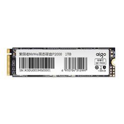 aigo 爱国者 P2000 M.2 NVMe 固态硬盘 1TB