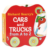 《Richard Scarry's Cars and Trucks: From A ToZ 字母入门从A到Z》(英文原版、纸板)