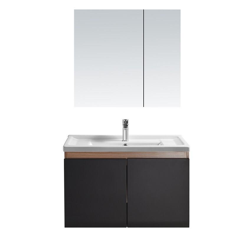 HEGII 恒洁 HBM506023N-0800E 轻奢浴室柜组合 哑黑色 80cm