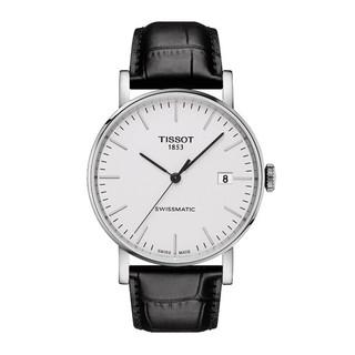 TISSOT 天梭 瑞士手表 魅时系列皮带机械男士简约手表送男友T109.407.16.031.00